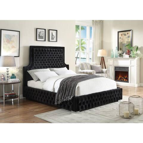Meridian Sedona Black Velvet Bed