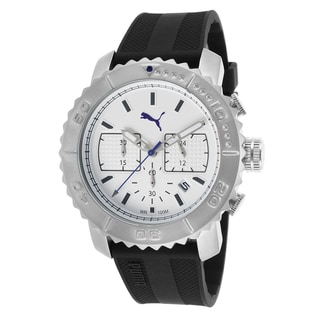 Puma Men's Black Stainless Steel/Rubber Watch