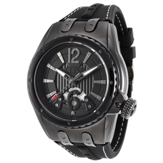 Elini Barokas Men's Genesis Vision Black Ceramic and Silicone Watch