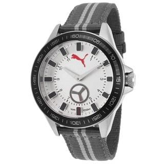 Puma Men's Grey Nylon and Stainless Steel Quartz Watch