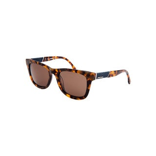 Diesel Women's Tortoise Brown Plastic Sunglasses