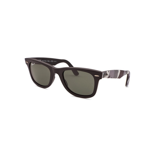 6f159cae5e Shop Ray-Ban Women s Black Plastic Sunglasses with Grey Lenses - Free  Shipping Today - Overstock.com - 12046674