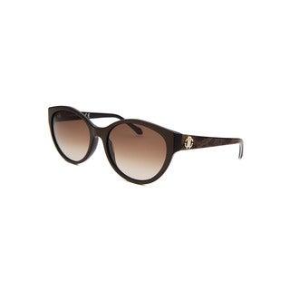 Roberto Cavalli Women's Alrischa Brown Round Sunglasses