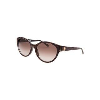 Roberto Cavalli Women's Alrischa Black and Brown Round Sunglasses