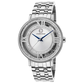 Cabochon Ladie's Carnaval Silvertone Stainless Steel Crystal Inlay Watch