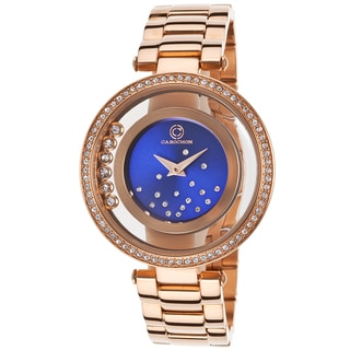 Cabochon Women's Rose Stainless Steel Crystal Quartz Watch