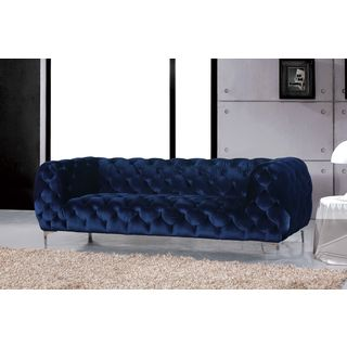 Meridian Mercer Navy Velvet Sofa