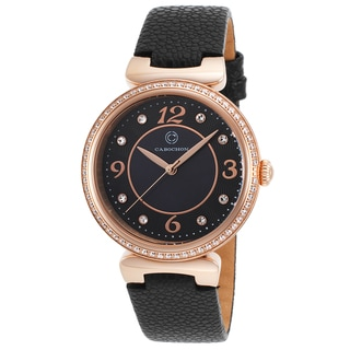 Cabochon Saga Mineral/Leather/Stainless Steel Watch