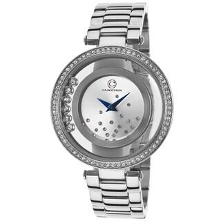 Cabochon Joya Silvertone Synthetic/Stainless Steel Watch