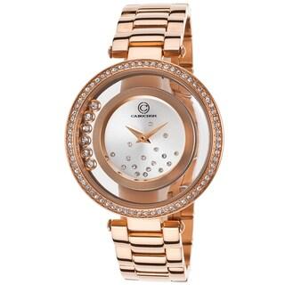 Cabochon Women's Joya Rose Gold Crystal Inlay Watch