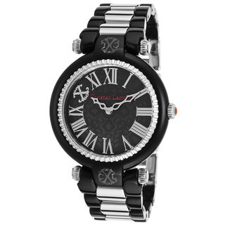 Christian Lacroix Black Stainless Steel Watch