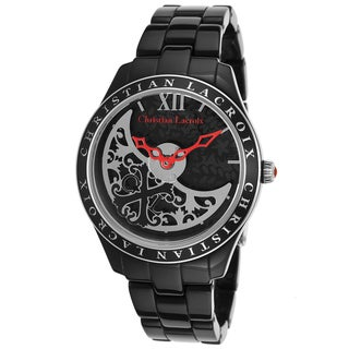 Christian Lacroix Women's Black Stainless Steel Watch