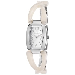 Clyda White Mineral/Stainless Steel Watch