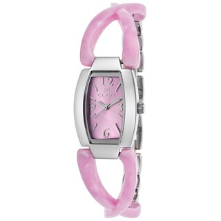 Clyda Women's Pink Stainless Steel Slim Watch