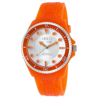 Heko +Life Orange/Silvertone Mineral/Resin Watch