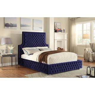 Meridian Sedona Navy Velvet Bed