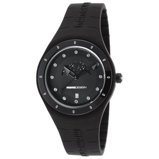 Momo Design Mirage Women's Black Silicone, Stainless Steel Quartz Watch