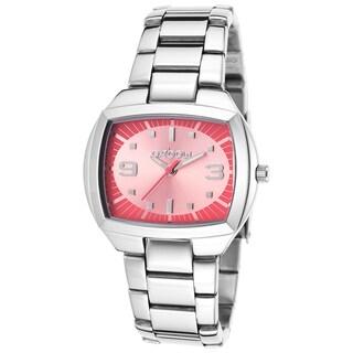 Oxbow Women's Silvertone/Pink Stainless-steel Watch