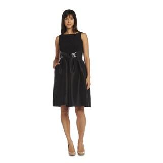 R&M Richards Women's Black Sequin Dress