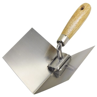 "4"" x 5"" Inside Drywall Corner Tool with Wood Handle"