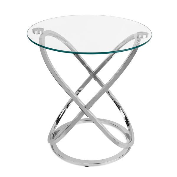 Charmant Clay Alder Home Lewisville Galaxy Chrome And Tempered Glass End Table