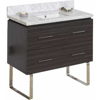36-in. W x 18-in. D Plywood-Melamine Vanity Set In Dawn Grey
