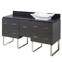 60-in. W x 18.5-in. D Plywood-Melamine Vanity Set In Dawn Grey