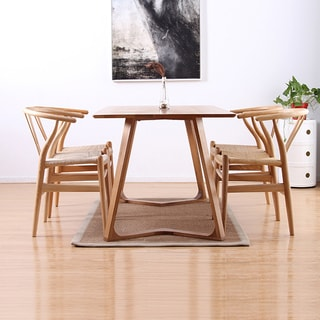 Modern V 71-inch 5-Piece Dining Table Set