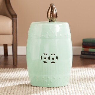 Harper Blvd Salinas Seafoam Green Ceramic Indoor/ Outdoor Accent Table/ Garden Stool