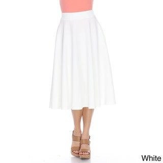 White Mark Women's Tasmin Flared Midi Skirt