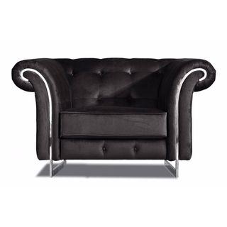 Meridian Porta Black Velvet Chair