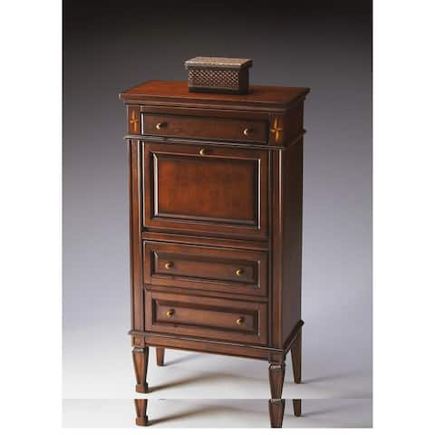 Handmade Butler Wordsworth Brown Wood Secretary Desk