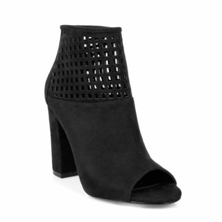 Hotsoles Women's Chunky Heel Booties