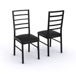 K&B Black Two Side Chairs