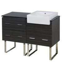 48-in. W x 20-in. D Plywood-Melamine Vanity Set In Dawn Grey - Dark Grey
