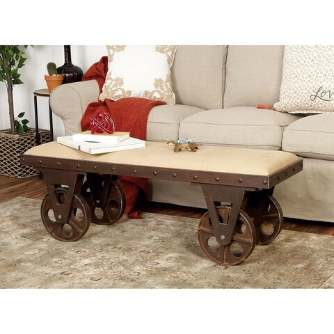 Industrial Portable Dressing Bench with Rolling Wheels by Studio 350