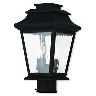 Livex Lighting Hathaway Black Two-light Outdoor Post Lantern