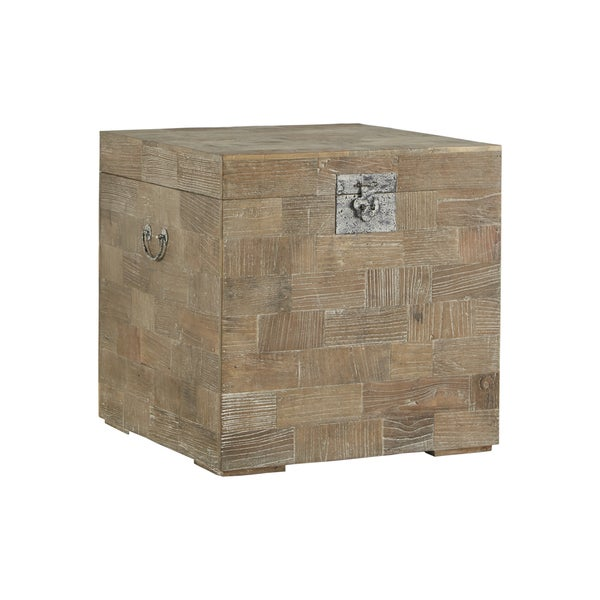 Good Tucker Reclaimed Wood Patchwork Storage Trunk Chest Side Table By INSPIRE Q  Artisan   Free Shipping Today   Overstock.com   18916770