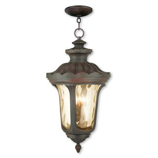Livex Lighting Oxford Brown Aluminum 4-light Imperial Outdoor Chain Lantern