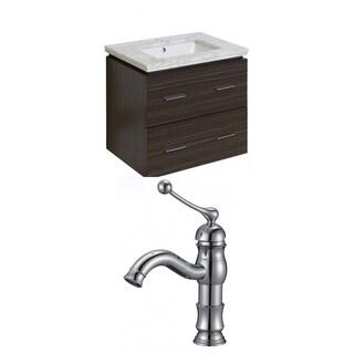 24-in. W x 18-in. D Plywood-Melamine Vanity Set In Dawn Grey With Single Hole CUPC Faucet - Dawn Grey
