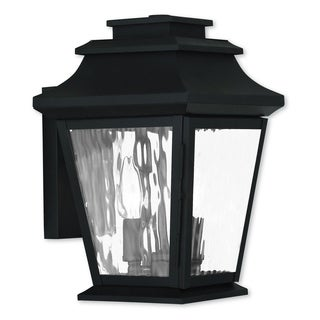 Livex Lighting Hathaway Black 2-light Outdoor Wall Lantern