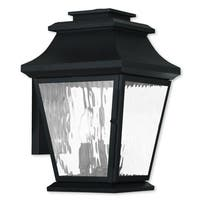 Livex Lighting Hathaway Black 3-light Outdoor Wall Lantern