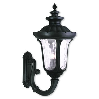 Livex Lighting Oxford Black Aluminum 4-light Outdoor Wall Lantern