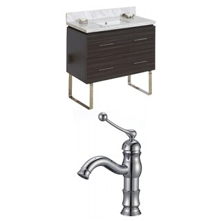 36-in. W x 18-in. D Plywood-Melamine Vanity Set In Dawn Grey With Single Hole CUPC Faucet