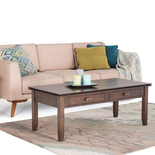 Brilliant Shop Wyndenhall Stratford Coffee Table In Natural Aged Brown Camellatalisay Diy Chair Ideas Camellatalisaycom