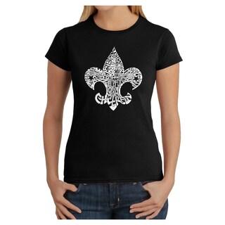 Los Angeles Pop Art Women's '12 Points of Scout Law' Multicolor Cotton T-shirt