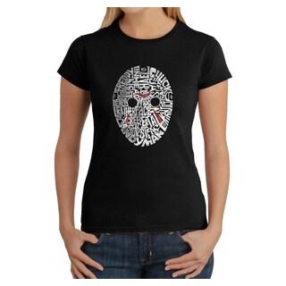 Los Angeles Pop Art Women's Slasher Movie Villians Multicolor Cotton T-shirt