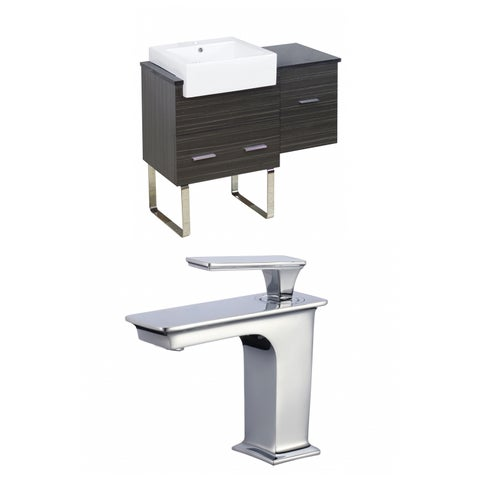 38-in. W x 20-in. D Plywood-Melamine Vanity Set In Dawn Grey With Single Hole CUPC Faucet