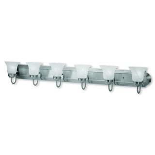 Livex Lighting Riviera Silver Steel 6-light Vanity Bathroom Fixture