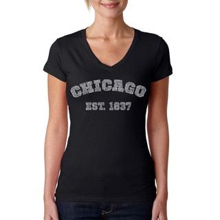 Women's Chicago 1837 V-neck T-shirt